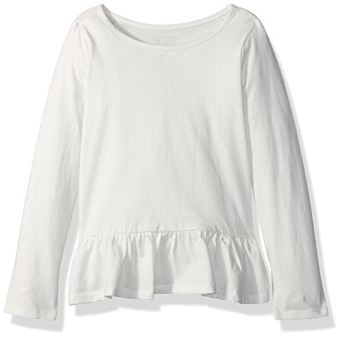 The Children's Place Baby Girls' Long Sleeve T-Shirt, Simplywht 08588, 4T