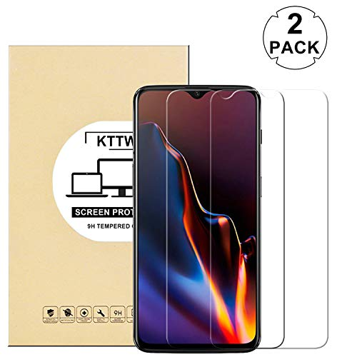 [2 Pack] OnePlus 6T Screen Protector Glass, KTTWO 9H Hardness Tempered Glass Anti-Scratch Bubble-Free Screen Protector for OnePlus 6T