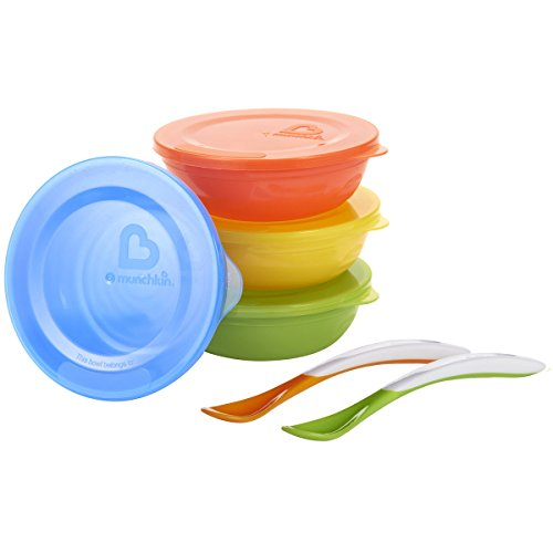 2 Piece Baby Feeding Set - Munchkin Love-a-Bowls 10 Piece Feeding Set