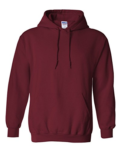 Gildan G125 DryBlend Adult Hooded Sweatshirt, Garnet, X-Large
