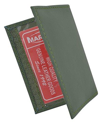 Amazon.com: Auténtica piel de cordero suave piel tarjeta de ...