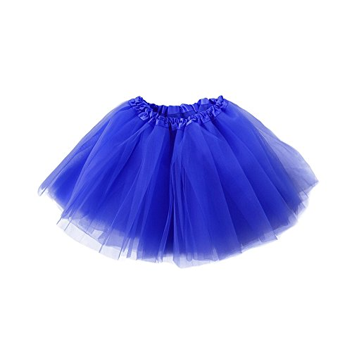 Adult Ballet Tutu Layered Clubwear Skirt Dance Party Dress (Royal Blue)