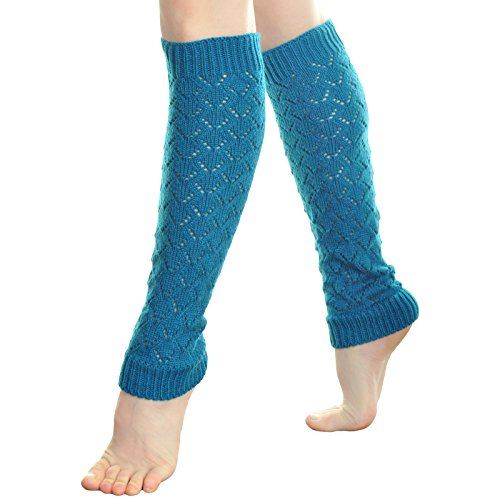 Angelina 6 Pack Cable Knit Cozy Leg Warmers, Lattice, #18...