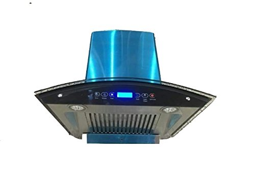 Chimney AUTO Clean Kitchen Chimney Touch Control with Baffle Filter 60 cm, 1200 M3/H (Osb Hac Touch Bf 90 Black)