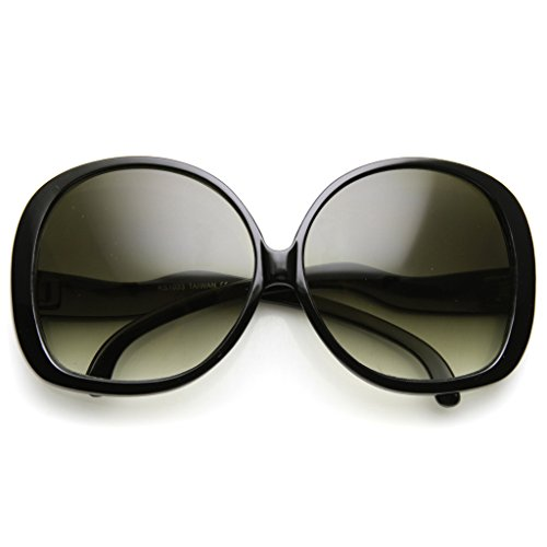 Sunglasses Oversized Oval (AStyles - Big Huge Oversized Vintage Style Sunglasses Retro Women Celebrity Fashion (Black))