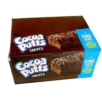 GENERAL MILLS TREAT BAR COCOA PUFFS TRIPLE CHOCOLATE 12/1.73oz