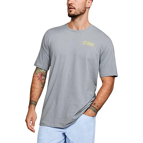 Under Armour Men's Tuna Reel T-Shirt, Steel Medium Heather/Sol, X-Large - Fish Short Sleeve Tee