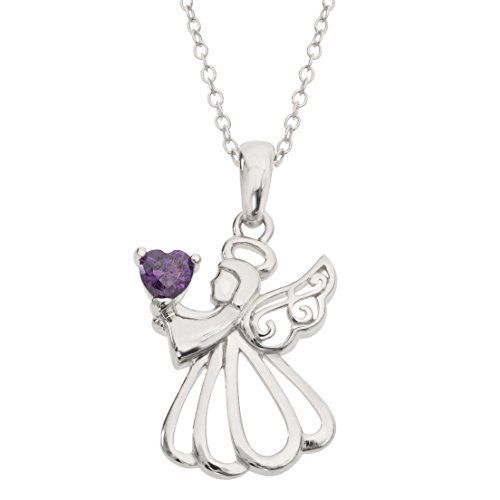Hallmark Jewelry Women s Birthstone Sterling Silver Angel Pendant Necklace, 18 See More Birthstone Months