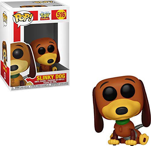 Funko Pop Toy Story-Slinky Dog Figura Coleccionable, Multicolor, Talla unica (37010)