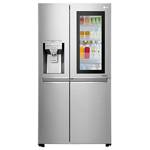 LG 668 L Frost Free Side-by-Side InstaView Door-in-Door Refrigerator(GC-X247CSAV.ANSQEBN, Noble...
