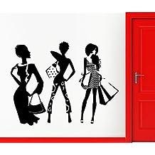 Wall Sticker Vinyl Decal Lifestyle Shopping Fashion Girls Silhouette VS2039