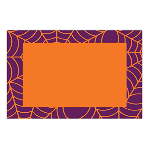 Halloween Paper Place Mats 25 Pack Spider Web Spooky Placemats School Children Adult Costume Parties Brunch Lunch Dinner Disposable Easy Cleanup 17
