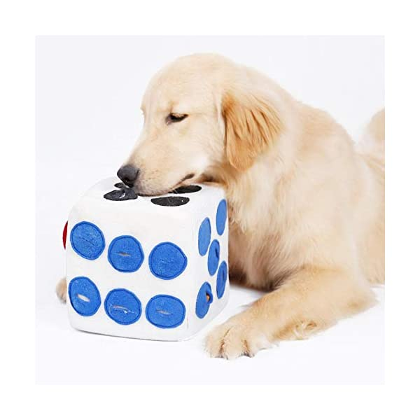 Dog Puzzle Feeder, Natural Dog Treats Toy, Dog Slow Feeder Game for Boredom, Encourages Natural Foraging Skills - Easy To Fill - Fun to Use Design - Durable & Machine Washable - Perfect for Any Breed 1