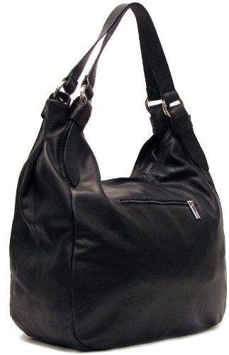 Hobo Leather Black in Shoulder Siena Bag Z6vwCq