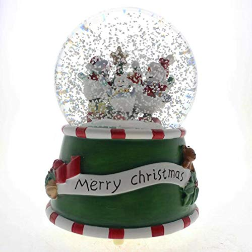 (SMYER Christmas Musical Lighted Snow Globe with Snow Blowing Battery Operated, LED Water Ball,100MM Diameter (Snowman) )