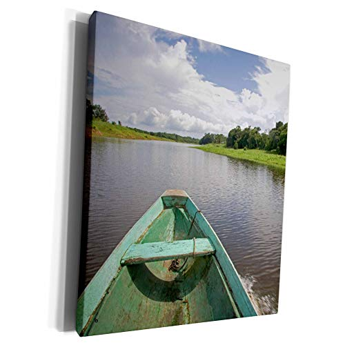 3dRose Danita Delimont - Boats - Dugout canoe, Boat, Arasa River, Amazon, Brazil - SA04 DFR0393 - David R. Frazier - Museum Grade Canvas Wrap (cw_85706_1) (Best Wood For Dugout Canoe)