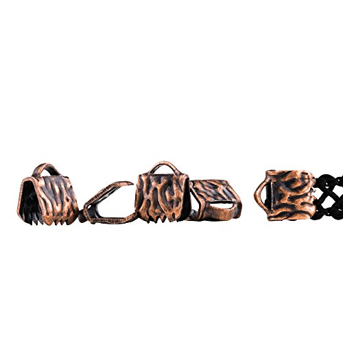 Twilight's Fancy 500pcs 6mm or 1/4 inch Antique Copper Ribbon Clamp End Crimps - Artisan Series