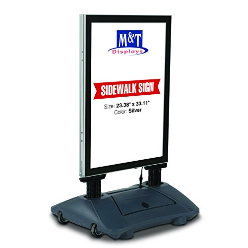 Illuminated Wind Pro Outdoor Advertising Display with LED Light Up Sign, 23.38x33.11 Poster Size ()