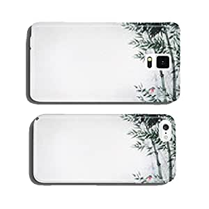 The little bird in a bamboo grove. The picture in Japanese style cell phone cover case iPhone5