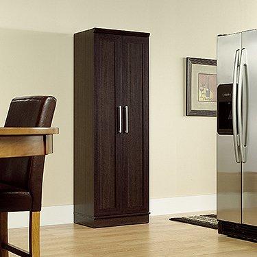 """Sauder 411985 Homeplus Storage Cabinet, L: 23.31"""" x W: 17.01"""" x H: 71.18"""", Dakota Oak finish"""