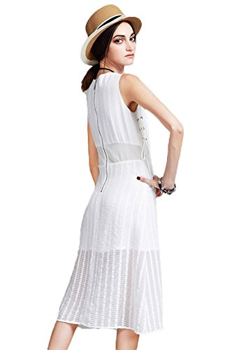 Insun Damen Kleid Elfenbein Gebrochenes Weiß kfk182283 - nixon.tim ...