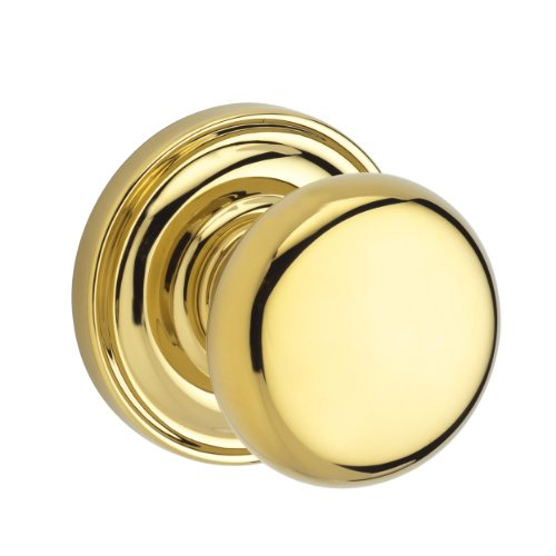 Baldwin Reserve 9BR3530-001 Traditional Round Privacy Knob in Polished Brass