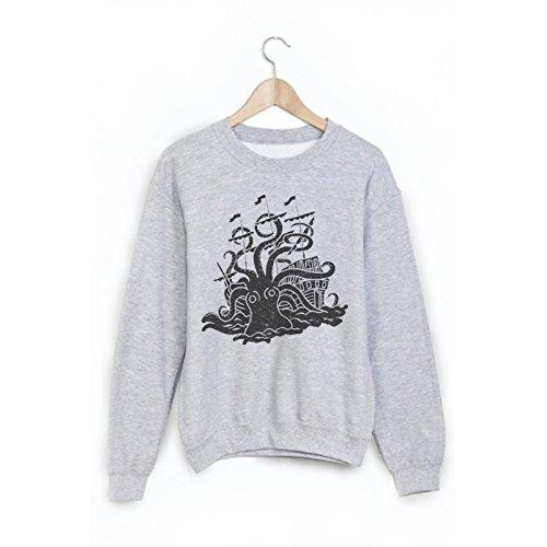 Sweat-Shirt imprimé pieuvre ref 1820 - M