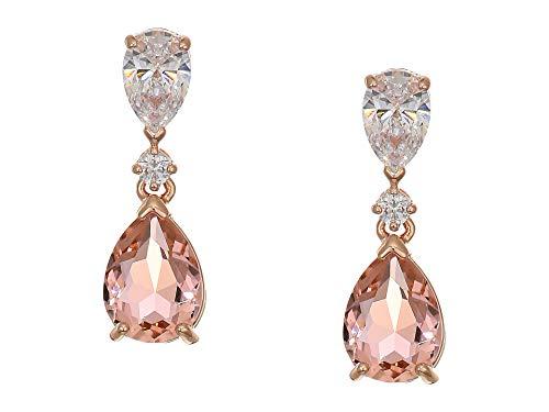 (Swarovski Crystal Vintage Pink Drop Earrings)