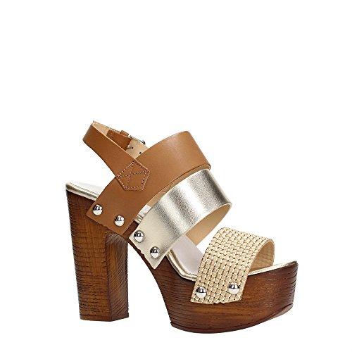 Sandali platino Oro Donna Con cognac Docksteps Platea Ustica zfxwCI5q