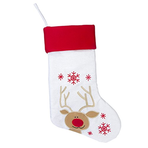 17'' Large Christmas Stockings Set of 3 with Santa, Reindeer, Snowman, Gospire Classic Linen Christmas Socks for Decorations Gift/Treat Bags by Gospire (Image #3)