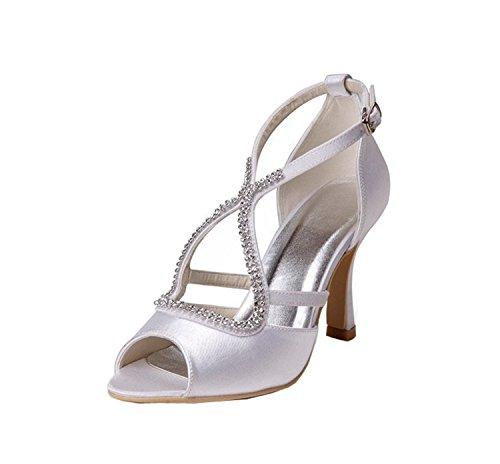 femme 43 de Fashion Kevin Chaussures tendance blanc mariage Blanc WpXxFOqH