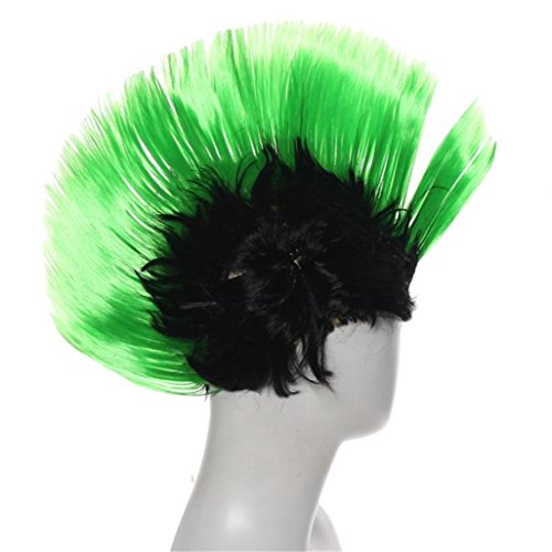 [Gotd Halloween Decorations Hallowmas Masquerade Punk Mohawk Mohican hairstyle Cockscomb Hair Wig Fancy Dress Party Wigs Cockscomb Hair Wig Halloween Wig Christmas Wig] (Fancy Dress Contact Lenses)