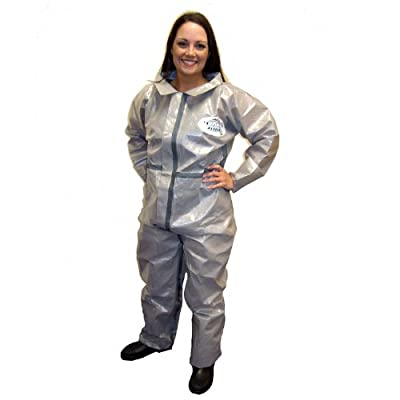 Enviroguard ChemSplash 2 Standard Coverall, Disposable, Elastic Wrists and Open Ankle, Gray, X-Large (Case of 6)