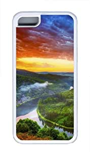Amazon river TPU Silicone Case Cover for iPhone 5C White