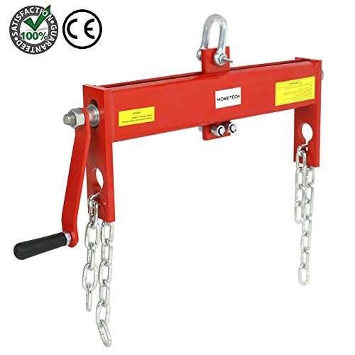 Premium Thick Steel 2 Ton Load Leveler with Chain for Cherry Picker Crane Jack Lift Engine Hoist Shop | Power Tool Balance the Load Up to 4000 Lbs | Easy Install Heavy Duty Compact Size Weight 13 lbs by HomeTech