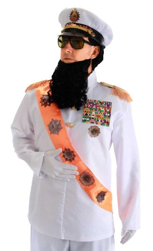 Sash Medium (elope Dictator Jacket with Sash, White, Small/Medium)