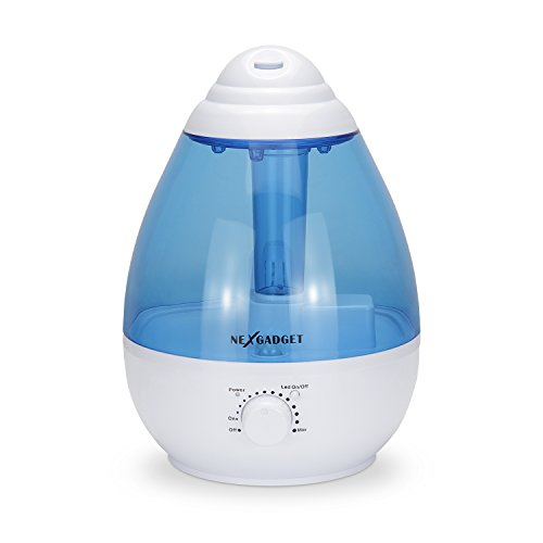 NEXGADGET Ultrasonic Cool Mist Humidifier - 1 Gallon, Mute,