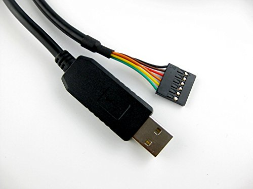Green-utech FTDI chip usb to 5v TTL UART serial cable, connector end, 1.8m, TTL-232R-5V compatible by Green-utech (Image #2)