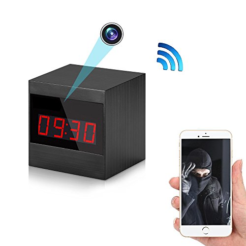 Wi-Fi Wireless Security Camera Clock – Bysameyee HD 1080P Video Recorder Nanny Mini Cam DVR, IP Network Camcorder with Motion Detection Night Vision
