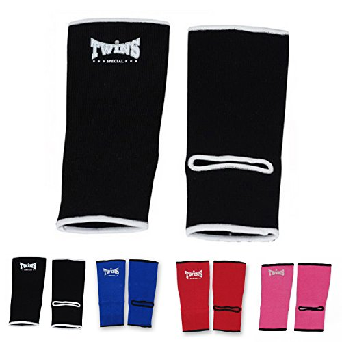 Twins Special Ankle Guard Support Protector AG Color Black, Blue, Red, Pink, Size M, L for Protection in Muay Thai, Boxing, Kickboxing, MMA