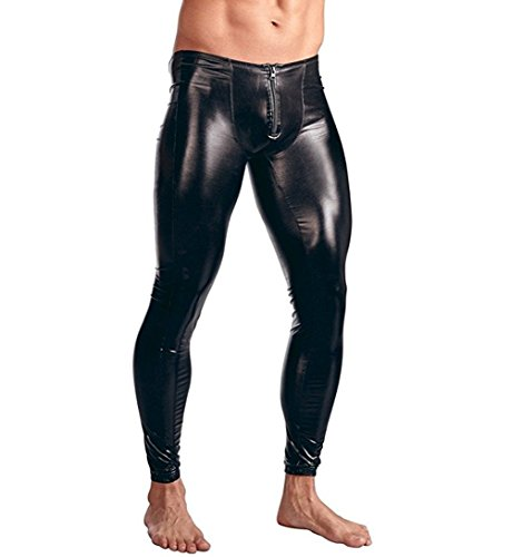 Zipper Front Leather Pants - 5