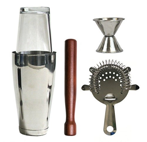 2dayShip Stainless Steel Bar Set, 5 Piec - Bar Cocktail Shaker Set Shopping Results