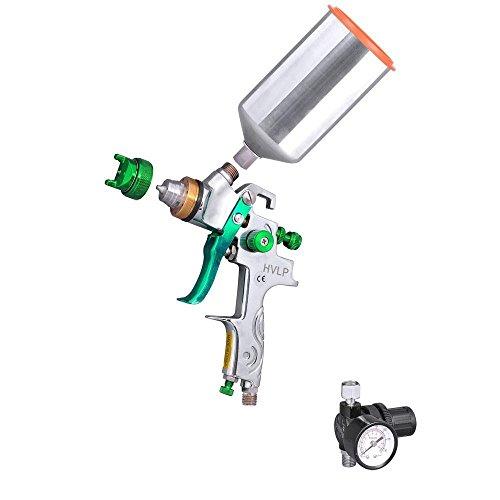 Price comparison product image 2.5 Mm Hvlp Spray Gun Auto Paint Gravity Feed w / Gauge Metal Flake Primer Nozzle