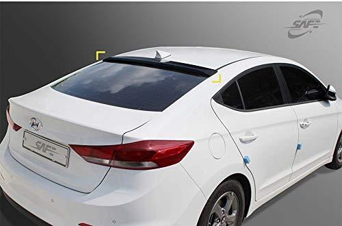 Kyoungdong Smoke Black ABS Rear Window Visors Roof Spoiler for 2017~2019 Hyundai Elantra 4door Sedan