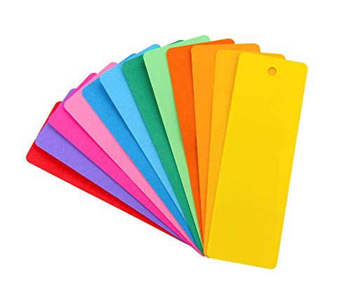 Hygloss Products Bright Bookmarks - Fun to Personalize - 12 Assorted Vibrant Colors - Cardstock Bookmarks - Value Pack - 100 Pack