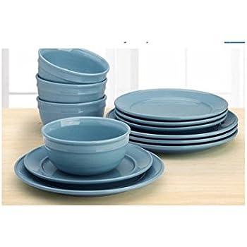 Mainstay Amelia 12-Piece Solid Color Dinnerware Set (Topaz)  sc 1 st  Amazon.com & Amazon.com | Mainstay Amelia 12-Piece Solid Color Dinnerware Set ...
