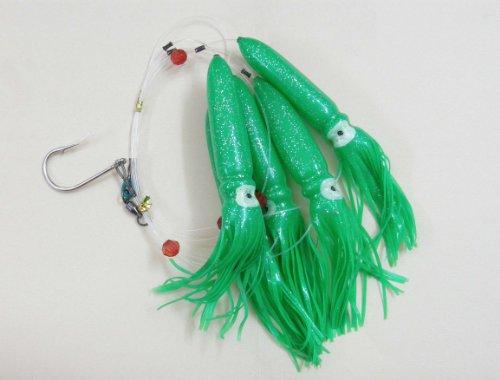 Shell Squid Daisy Chain – Green – 1pc – W/single Lure Bag – Item # 227