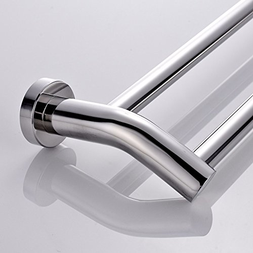 LVLIDAN Shelf Toilet Towel bar rails Contemporary Stainless steel Double layer Wall mounted 50cm