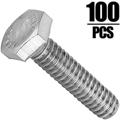 "Lot of 100 Pcs. 1//4/""-20 X 4/"" Stainless Steel Hex Head Cap Screws"
