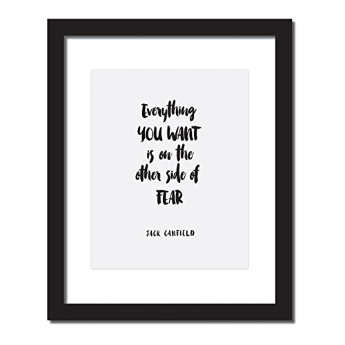 'Everything You Want Is On the Other Side of Fear' Inspirational Quote Print . UNFRAMED. from Craft Street Design